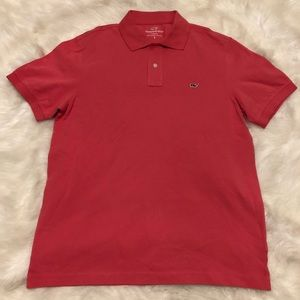 Vineyard Vines Classic Pique Polo in Jetty Red